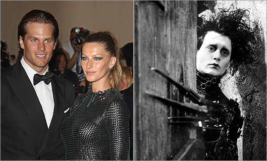 TOM BRADY CONNECTION Leonardo DiCaprio once dated Tom Brady's wife, supermodel Gisele Bundchen (pictured). Johnny Depp, on the other hand, appeared as the title role in 'Edward Scissorhands' — wide receiver?