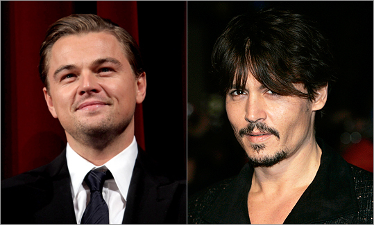 NUMBER OF PROJECTS IN DEVELOPMENT ON IMDB.COM Leonardo DiCaprio has a whopping 21 in-development projects listed while Johnny Depp has 14.