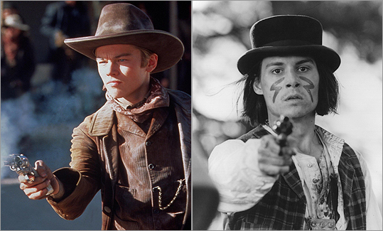 WESTERNS Leonardo DiCaprio played the Kid in Sam Raimi's 1995 film 'The Quick and the Dead' while Johnny Depp played William Blake in 'Dead Man.'