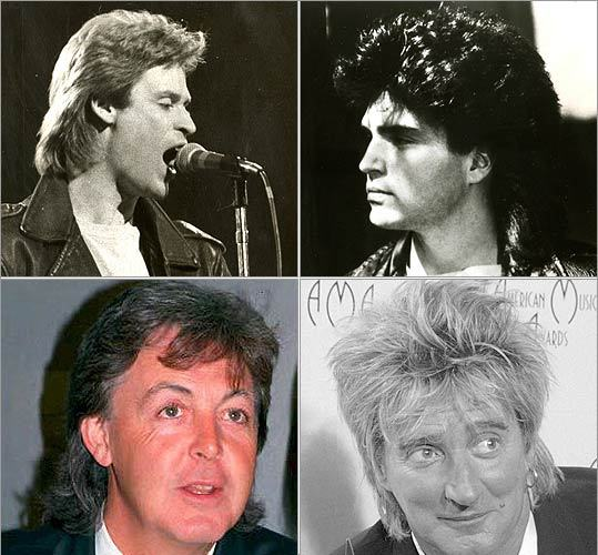 More '80s musicians Again, the mullet was in high-demand in the music industry in the 1980s and early '90s. Seemingly everyone, from up-and-coming crooners like Daryl Hall (upper left) and Richard Marx (upper right) to established legends like Rod Stewart (lower right) and Paul McCartney asked their barbers for the cut.