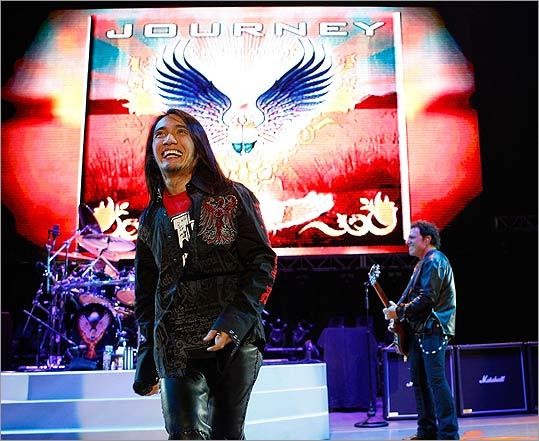 BETTER THAN EVER? Journey injected youth into its lineup with new frontman Arnel Pineda.