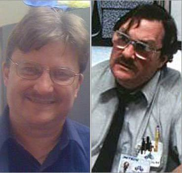 Monika Markmanrud of Hudson, N.H., sent in this photo of her co-worker, Jim Kleinrock, who she says looks just like Milton from the movie, 'Office Space,' played by Stephen Root. Do they look alike? online surveys