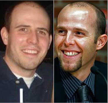 Mike Curtis of North Attleborough and 'many of my friends' think their buddy Bob from Stoneham is a ringer for Red Sox star Dustin Pedroia. Do they look alike? customer surveys
