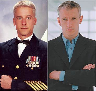 Widiyabuana of Jakarta, Indonesia, says many people think her man-in-uniform looks like another sharp-dressed man, CNN journalist Anderson Cooper. Do they look alike? online surveys