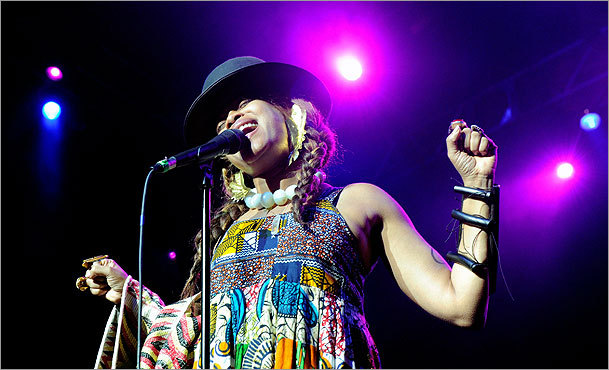 A photographer captured Erykah Badu in Las Vegas in June, 2010.