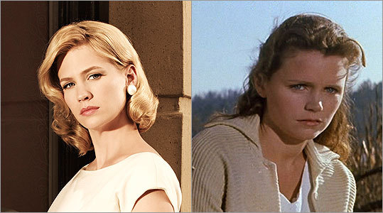 BETTY DRAPER January Jones -- Lee Remick Remick (right) had the face of a sad Barbie doll, but she could play passionate rage and brittle angst, too. Other contenders: Grace Kelly, Kim Novak, and Tippi Hedren, of course. Betty's a Hitchcock woman for sure.