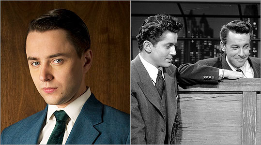 PETE CAMPBELL Vincent Kartheiser -- Farley Granger and John Dall I have to go with a tie between Granger and Dall (at right, respectively), as they appeared in Hitchcock's 'Rope.' Granger was fidgety and Dall was warped and violent; put them together and you've got one big creep.