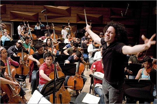 Gustavo Dudamel and the Simon Bolivar Youth Orchestra.