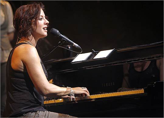 Sarah McLachlan performs at the 2010 Lilith Fair Tour at the Comcast Center in Mansfield, Mass., Friday, July 30.