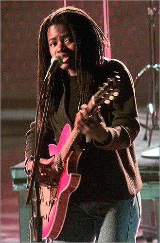 24. (tie) Tracy Chapman The former busker and Tufts grad tied for the 24th spot. Who did the singer edge out? Chapman narrowly fended off bids by, in order, electro-pop act Passion Pit, indie noise group Dinosaur Jr., and spunky '90s pop-rockers Letters to Cleo. Pictured: Chapman at rehearsals for the 39th annual Grammy Awards in New York on Feb. 26, 1997.