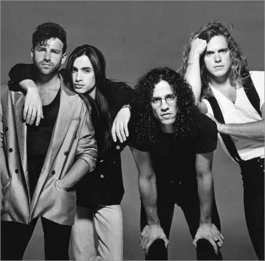 8. Extreme The metalheads-turned-soft scored a big hit with 'More Than Words.' The band is still going today, though lead guitarist Nuno Bettencourt is currently backing up Rihanna on tour. From left: Paul Geary, Bettencourt, Gary Cherone, and Pat Badger in 1992.