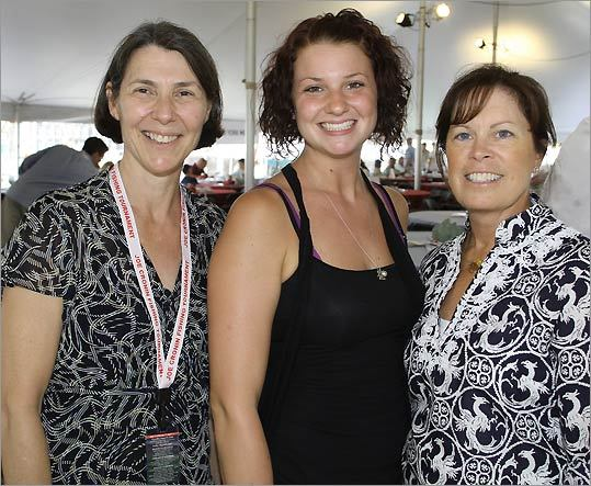 From left: Ann Fidrych and her daughter, Jessica, both of Northboro, and Sue Butler of Centerville.