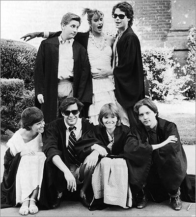 12. 'St. Elmo's Fire' (1985) The Brat Pack is on full display as a group of recent grads who are stuck between their college days and their impending adulthood. From left, top row: Emilio Estevez, Demi Moore, and Rob Lowe; bottom row: Ally Sheedy, Judd Nelson, Mare Winningham, and Andrew McCarthy.