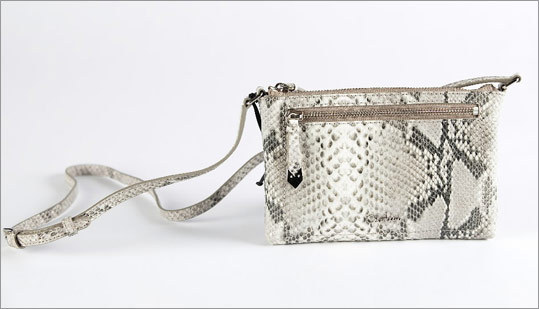 "Cole Haan ""Mini Crossbody Roccia"" embossed leather purse, $98 at Cole Haan, 109 Newbury Street, Boston, 617-536-7826, and other locations, http://www.colehaan.com"