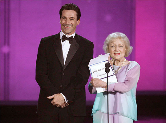 Jon Hamm and Betty White