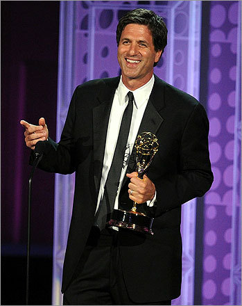 Writer Steven Levitan accepted the award for best writing in a comedy series, for his work on 'Modern Family.'