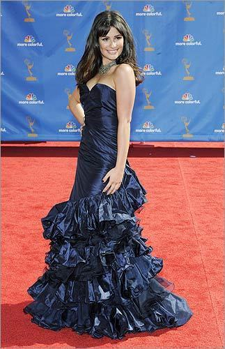 *Readers' top pick: ''Glee'' star Lea Michele in Oscar de la Renta at the Emmy Awards in Los Angeles on Aug. 29, 2010. Is Michele's dress a hit or a miss? survey software