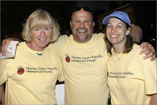 From left: Linda Gallagher of Cambridge, Joe Cirrone of Malden, and Lorraine Mountain of North Reading.