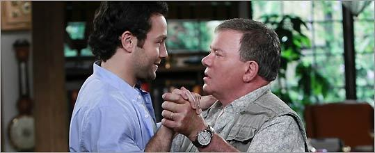 Jonathan Sadowski (left) and William Shatner in '$#*! My Dad Says,' a comedy on CBS Thursday nights.