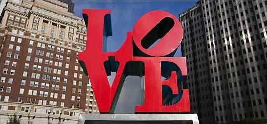 Robert Indiana's 'Love' sculpture.