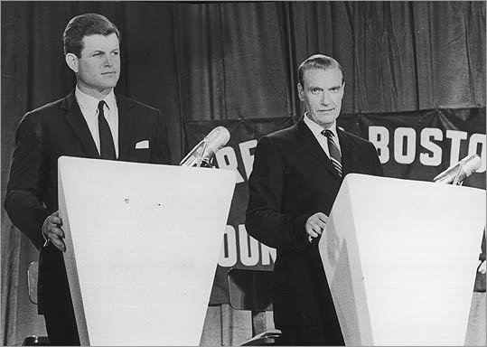"""Memorable clashes and defining remarks in local debate history. US Senate, 1962 Ted Kennedy vs. Edward McCormack Memorable Line : On the question of his qualifications, McCormack jabbed his finger toward the inexperienced Kennedy and said that if his opponent's name were Edward Moore, his candidacy """"would be a joke. But nobody's laughing because his name is not Edward Moore. It's Edward Moore Kennedy."""" Significance : Riding home with aides and listening to caller after caller on the radio complain about McCormack's attack on the young Kennedy, McCormack finally said, """"Turn it off, the race is over."""""""