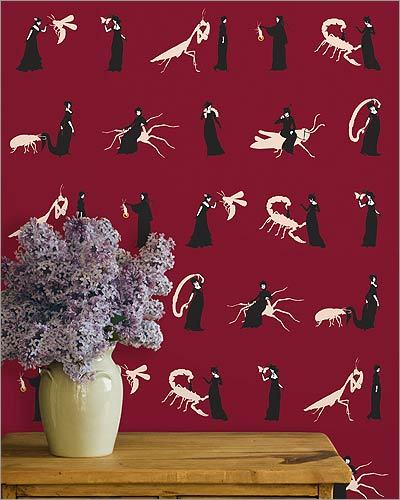 Grow House Grow &#148;Ms. Ward&#148; wallpaper, $180 per roll at DeLise Decor, 324 Fore Street, Portland, Maine, 207-774-7791