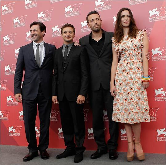 'The Town' cast members Jeremy Renner, Jon Hamm, Ben Affleck, and Rebecca Hall.