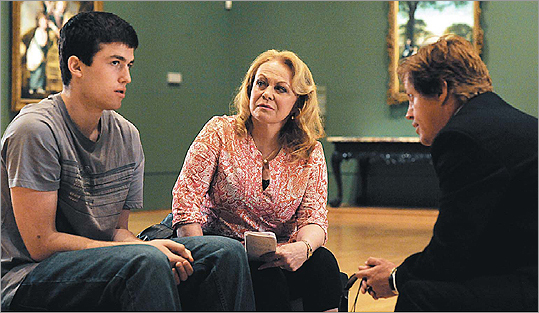 Above (from left): James Frecheville, Jacki Weaver, and Dan Wyllie in ''Animal Kingdom.'' Below: Guy Pearce plays a detective.