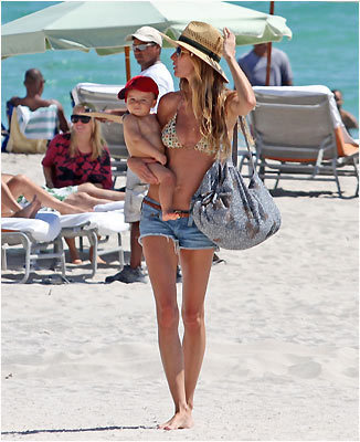 Gisele Bundchen with son Benjamin