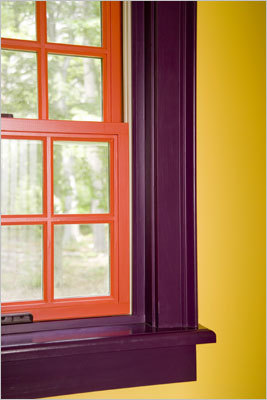 painting windowsills and sashes different colors.
