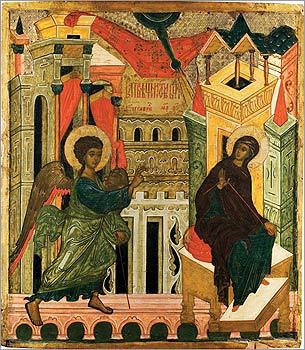 Annunciation, circa 1550.