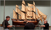 MFA staff position a model of a French frigate dating from the 18th century