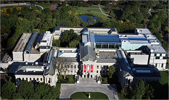 Aerial view of the MFA