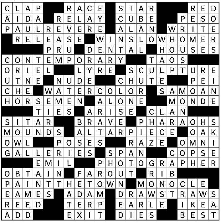 MFA crossword solution