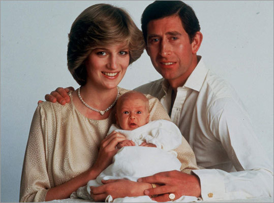The Prince and Princess of Wales pictured with their 6-month-old son, Prince William