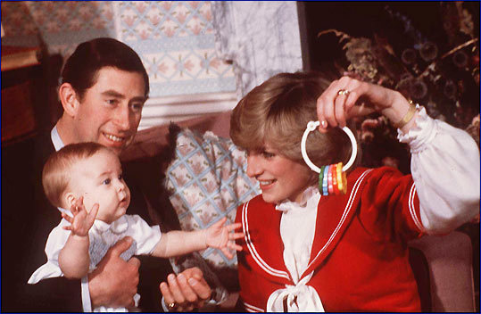 Princess Diana and Prince Charles played with Prince William