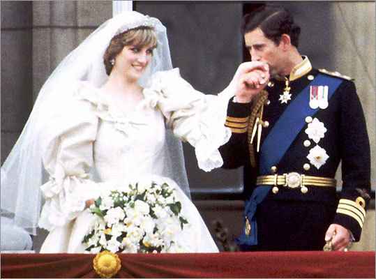 Prince Charles and Princess Diana on the balcony of Buckingham Palace on their wedding day, July 29, 1981.
