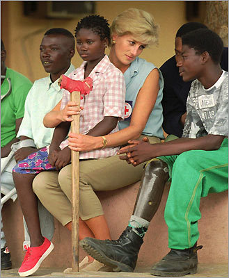 Princess Diana in Angola