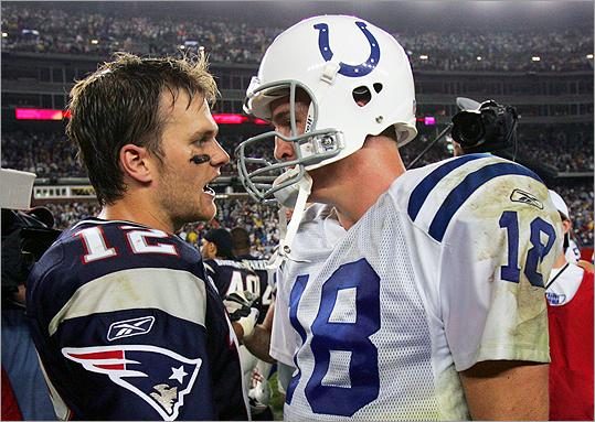 Tom Brady and Payton Manning