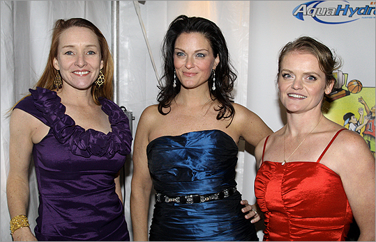 From left: Kate O'Brien (Conan O'Brien's sister), Erica McDermott, and Melissa McMeekin portray three of Micky Ward's sisters in the film.