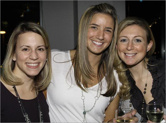 Jessica Trohaugh of North Port, N.Y., Ashley Hoyle of Charlestown, and Lindsay Surig of Boston.