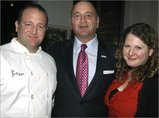Prezza Owner and Executive Chef Anthony Caturano of Boston, his dad, Richard Caturano of Boston, and his daughter, Christina Caturano, of Concord.