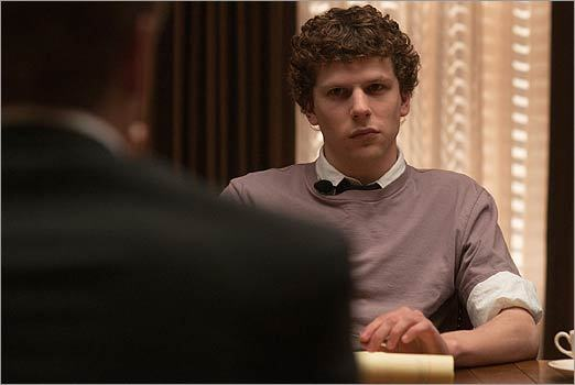 'The Social Network' Sure, Aaron Sorkin and David Fincher's thriller is the story of who did or didn't start Facebook. But the bruised egos, petty recriminations, mouthy speechifying, baggy sweatshirts, shower sandals, blazers, sulking, brooding, screen-staring, personal righteousness, probable prevarication, conduct codes, envy, greed, blind ambition, blinding horniness, intellectual insecurity, defensiveness, fear of rejection, hurt feelings, and crying to the dean, then to daddy's lawyers, all constitute something greater: the realest movie ever made about the college experience. — W.M.