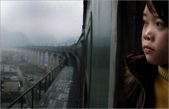 9. 'Last Train Home' In which we are invited to consider China's economic miracle not as a mass movement involving more than a billion people but a human tragedy involving four. Every Chinese New Year, garment workers Zhang Changhua and his wife travel 1,300 miles from Guangzhou to their farming village to visit the two teenage children they barely know. Filmmaker Fan Lixin captures the macro of their journey — with 130 million workers making the annual trek, it's the planet's largest human migration — and the heartbreaking micro of their domestic dissolution. The film's secret star is the couple's daughter, Qin, who acts out a rebellion that looks unexpectedly Western and who makes her own journey toward either freedom or free fall.