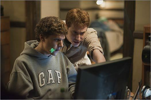 "'The Social Network' No, this may not be how Facebook ""really happened,'' and there are genuine discussions to be had about the way pop culture bends history into finer, falser shape. But this movie — as glib and as trenchant as that Orson Welles classic about another sudden media tycoon — carries an unyielding moral sting in its portrait of a world where everyone is ""friends'' with everyone else and no one actually connects. — T.B."