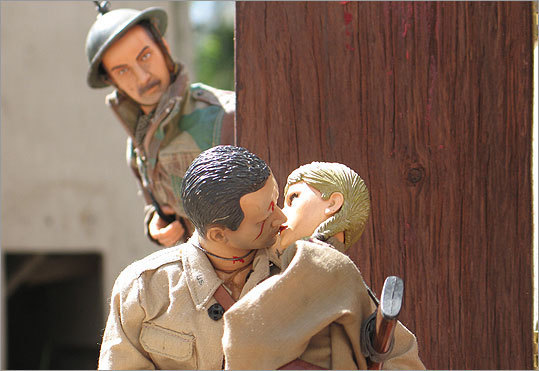 "'Marwencol' Documentaries, by contrast, rarely get as eerily personal as ""Marwencol,'' Jeff Malmberg's film about a Kingston, N.Y., man who recovered from a brutal beating and a coma by building a miniature World War II village in his backyard, complete with doll versions of his friends and family and a rich narrative of sacrifice and healing. Mark Hogancamp could be Andy from ""Toy Story'' grown into a sweet-souled lost boy, and his make-believe town is both a therapeutic response to the waking world and a better version of it. — T.B."