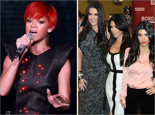 Rihanna and Kardashians