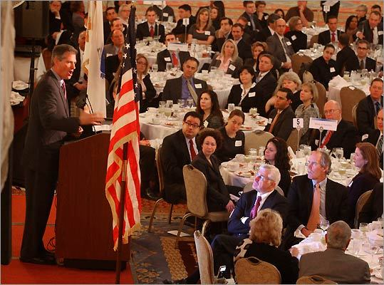 Senator Scott Brown addressed the Greater Boston Chamber of Commerce.