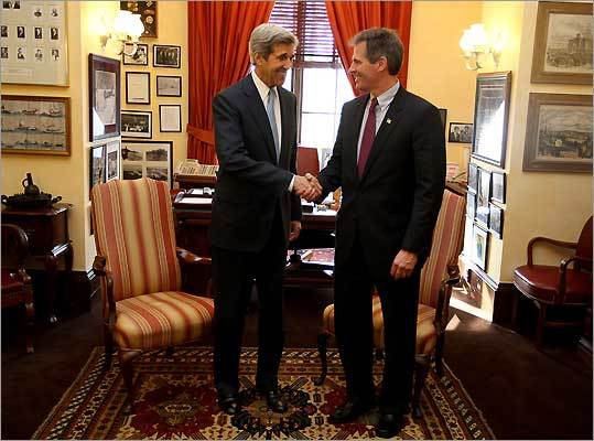 John Kerry and Scott Brown