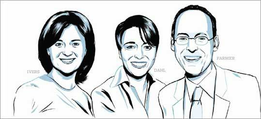 Louise Ivers, Ophelia Dahl, and Paul Farmer